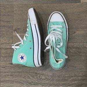 WORN ONCE Size 7 Women's Mint Green Converse